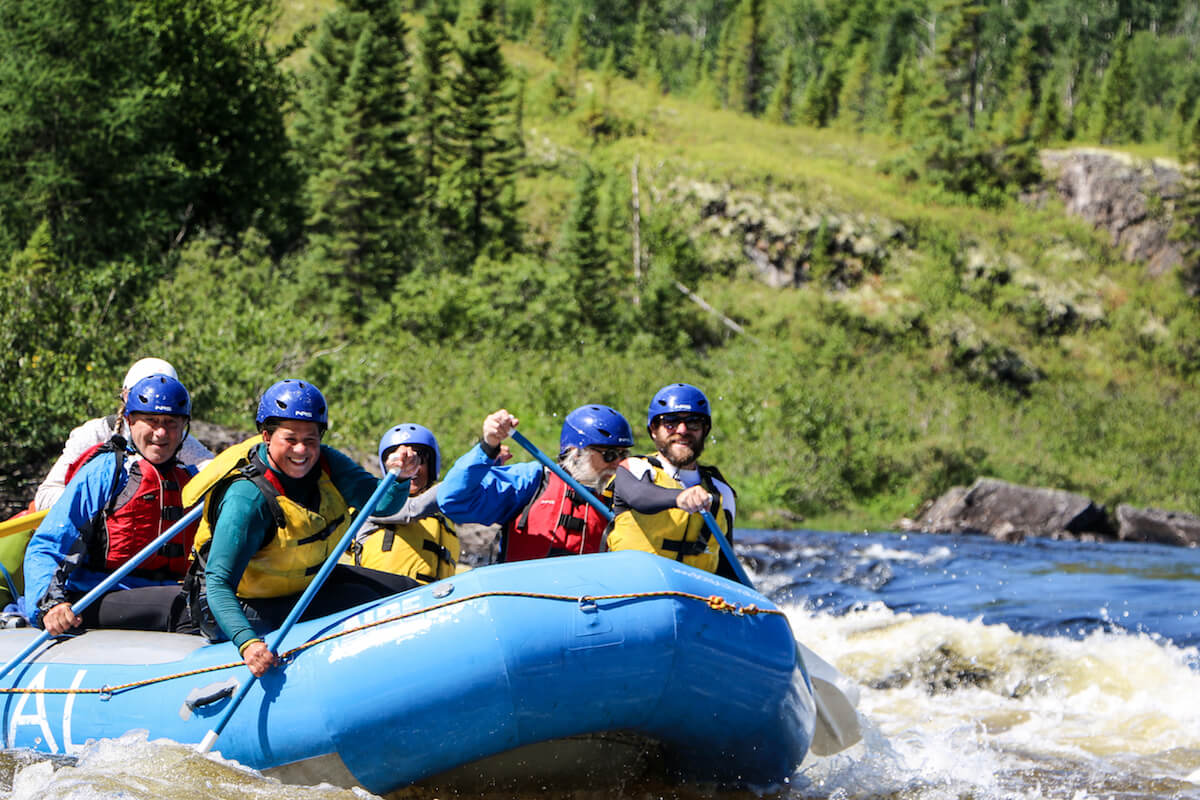 Magpie River Whitewater Rafting Adventure, Quebec Canada