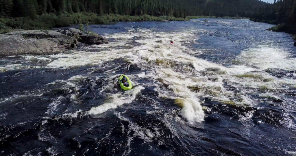 Magpie River whitewater pack rafting expedition in Quebec, Canada