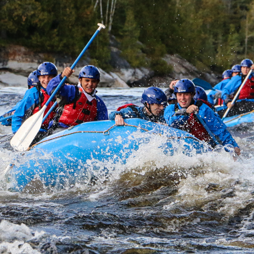 experiential education whitewater rafting expedition on the Gatineau River