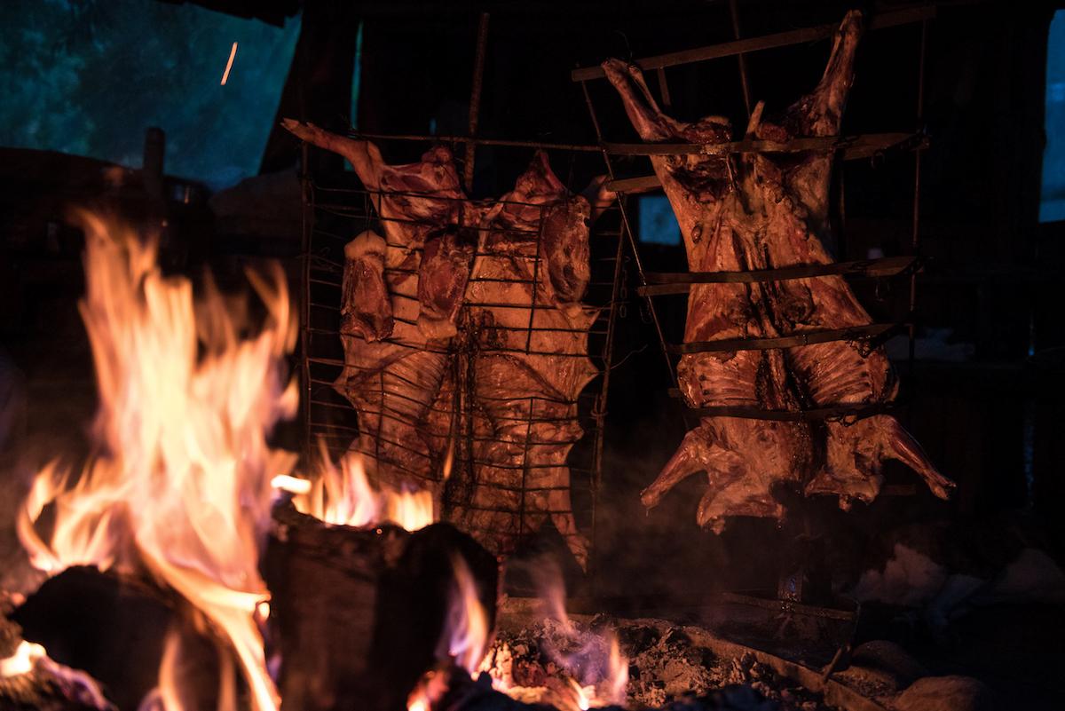 Patagonia lamb asado