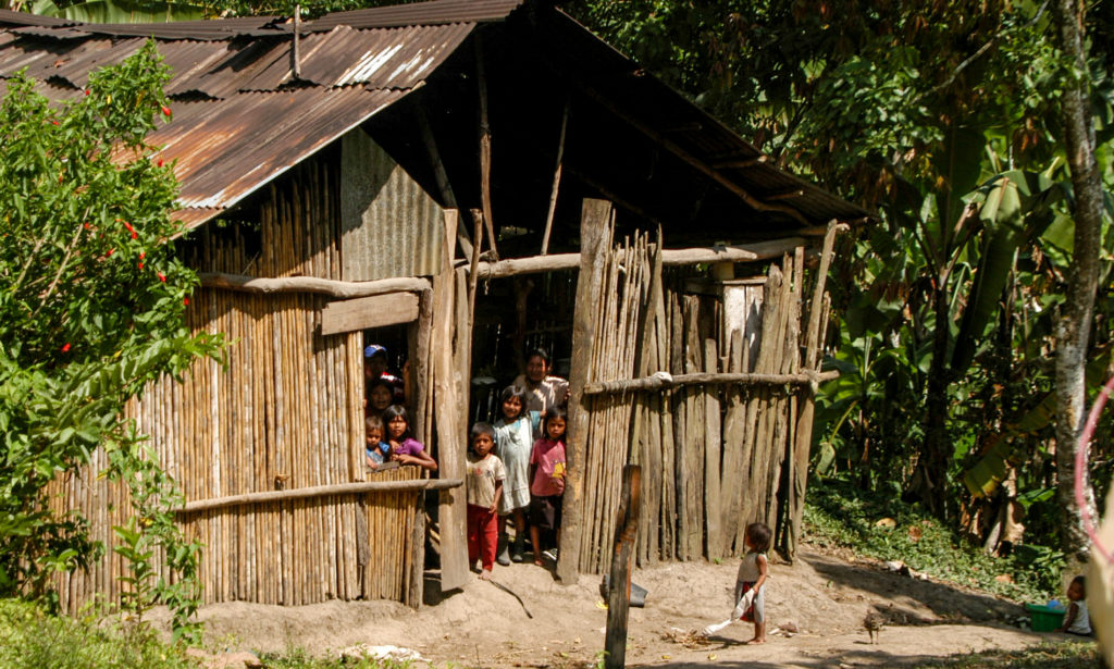 Cabecar people in the Talamanca Mountains, Costa Rica