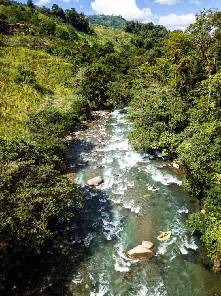 Taos section of the Pejibaye River, Costa Rica - first whitewater run on the packrafting trip
