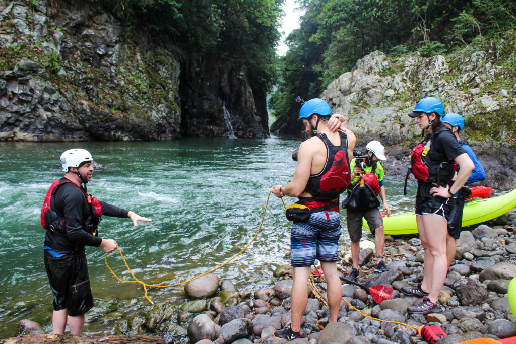 Whitewater safety instruction