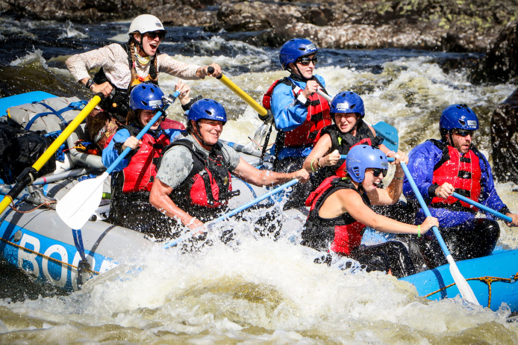 Whitewater rafting on the Magpie