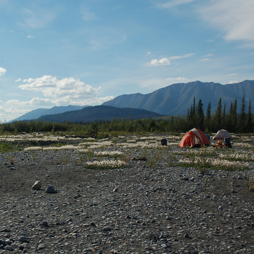 Campsite along the Nahanni River