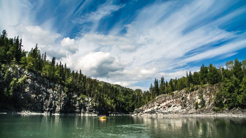 Rafting on the Babine River, one of the best multi-day white water rafting trips in Canada