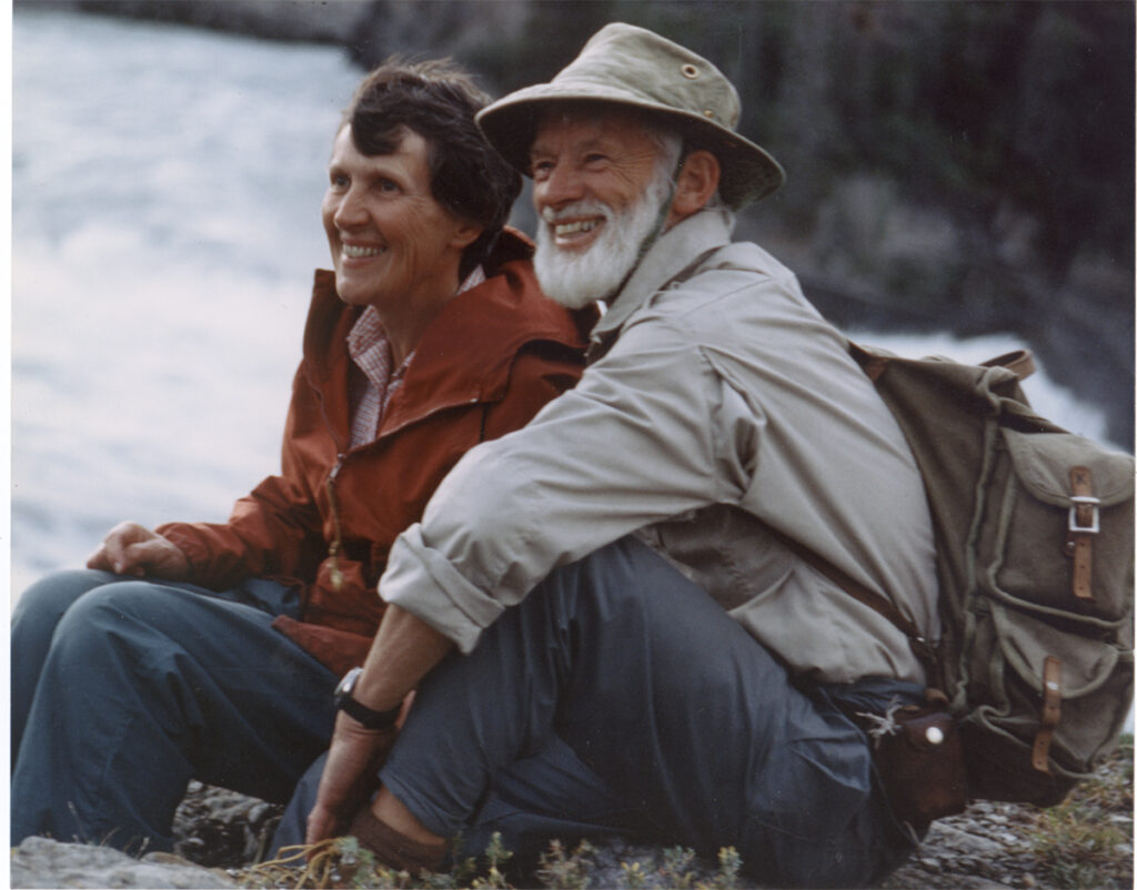 Joyce and Bill Mason on the Nah?ą Dehé (Nahanni River)