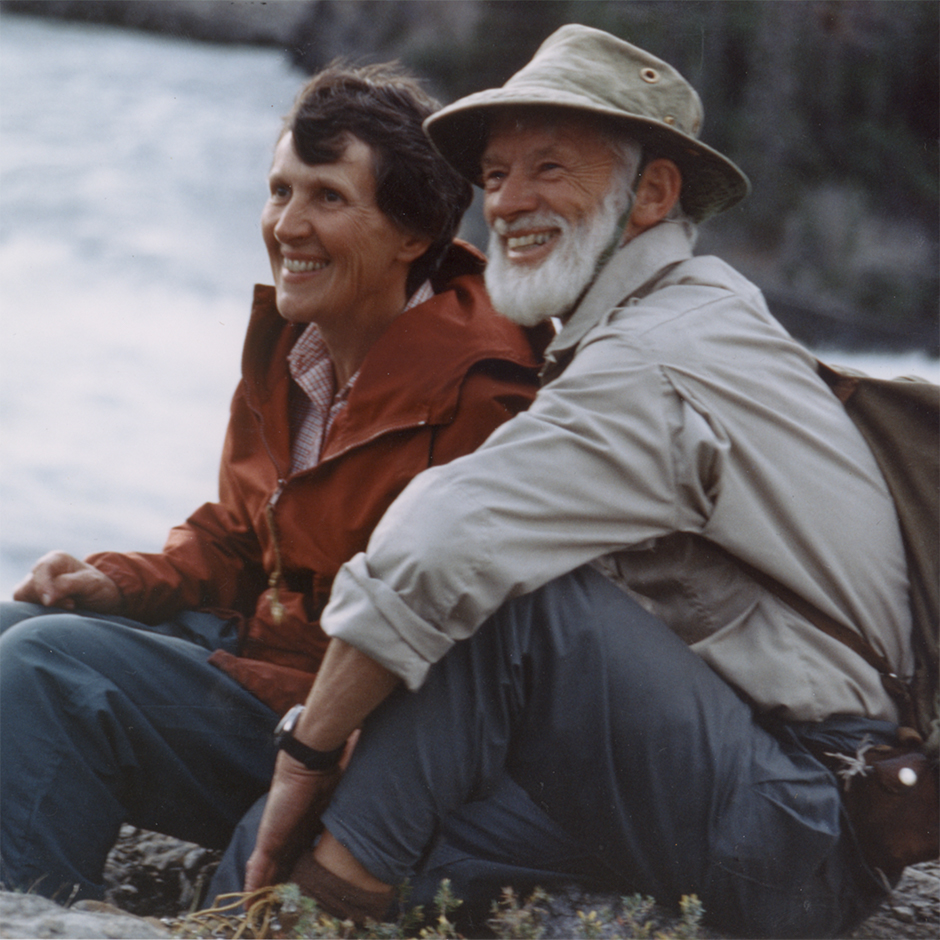 Joyce Mason and Bill Mason on the Nahanni River